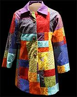 a colorful coat