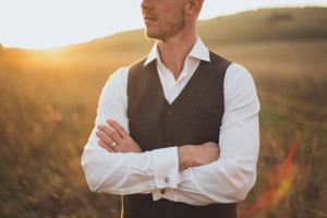 man wearing a vest