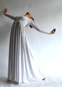 woman wearing a long dress