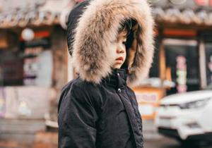 boy wearing a parka
