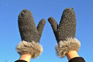a pair of mittens