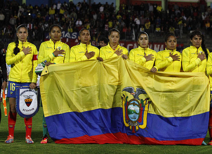 The women's national team from Ecuador